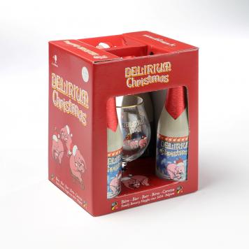 Delirium Christmas 4x33cl + klaas